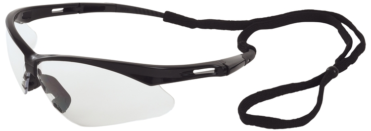 Octane Safety Glasses (Black Frame/Clear Anti-Fog Lens)