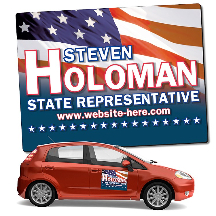 Political Magnetic Car/Truck/Auto/Vehicle Signs - 24x18 Round Corners