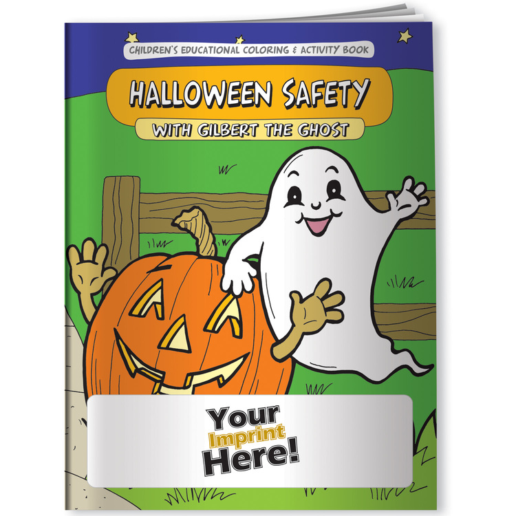 Halloween Safety with Gilbert the Ghost - Coloring Book