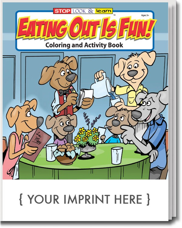 COLORING BOOK - Eating Out is Fun Coloring and Activity Book