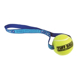 Woven Strap Tennis Ball Dog Toy
