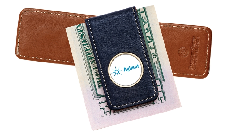 Two-tone Leather Money Clip