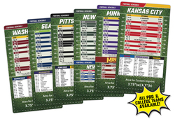Magnet Sport Schedules - 4x7 Football Round Corners - 25 mil.