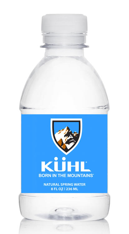 Purified, 8 oz. Plastic Water Bottle, Flat Cap