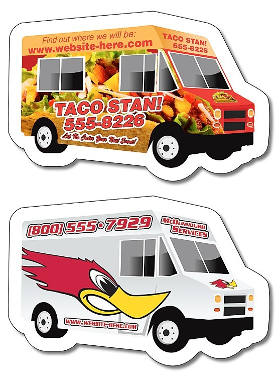 Magnet - Food Truck / Delivery Truck Shape (4x2.6) - 25 mil.