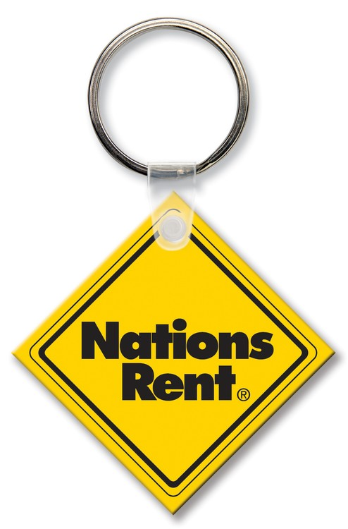 Key Tag - Small Square - Spot Color - Budget friendly key chain / ring / holder and key accessories for auto, car, house or automotive dea