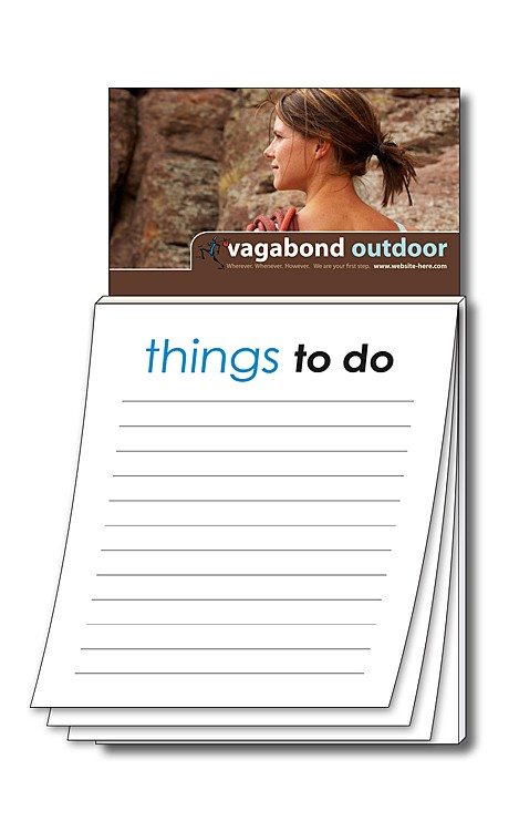 Magna-Pad Business Card Magnet - Stock Things To Do (50 Sheet)