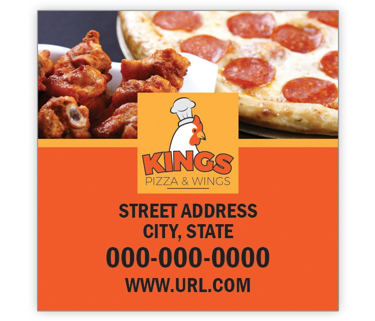Design Your Own Pizza & Wings 2x2 Keeper Magnet