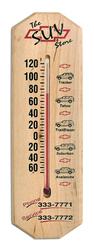 Large Maple Wood Thermometer Titan Jr.