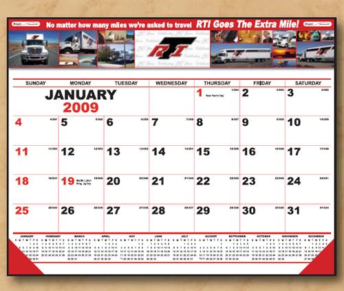 The Executive Line Desk Calendar (4 Color )