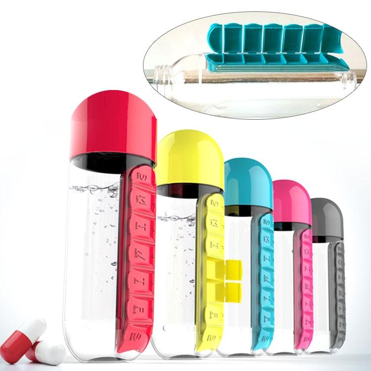 7 Days Pill Box Organizer W/ Water Bottle