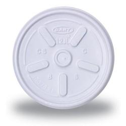 White 8 oz. Tear Tab Lid
