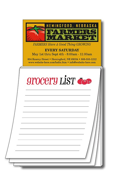 Magna Pad Business Card Magnet Stock Grocery List 50 Sheet