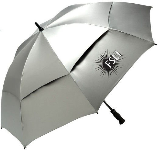 custom umbrellas logo printed sunblock sunguard silver spf reflective