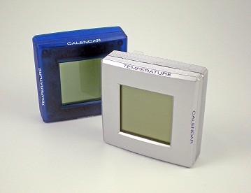 Computer desk alarm clock with thermometer and Calendar