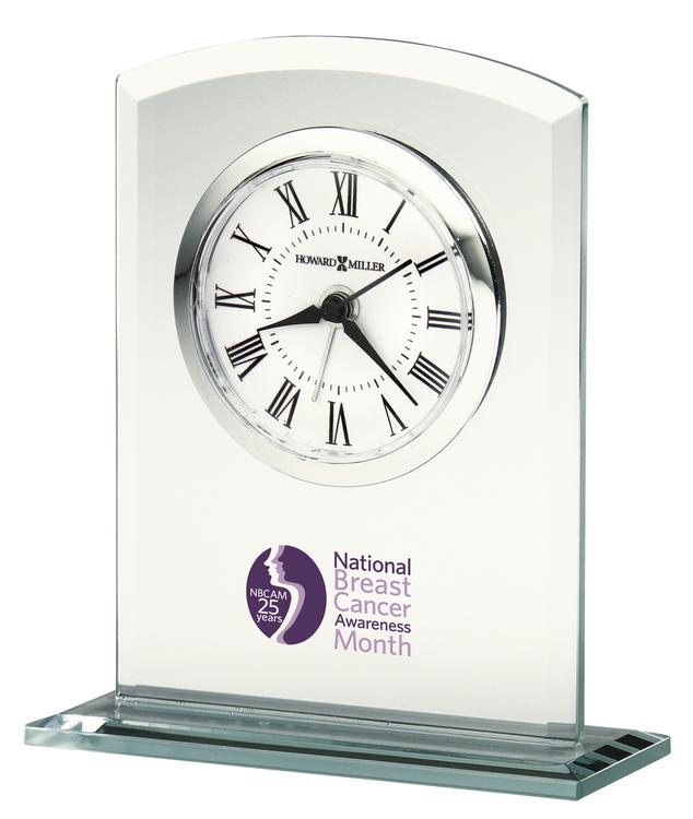 Howard Miller Medina glass tabletop clock