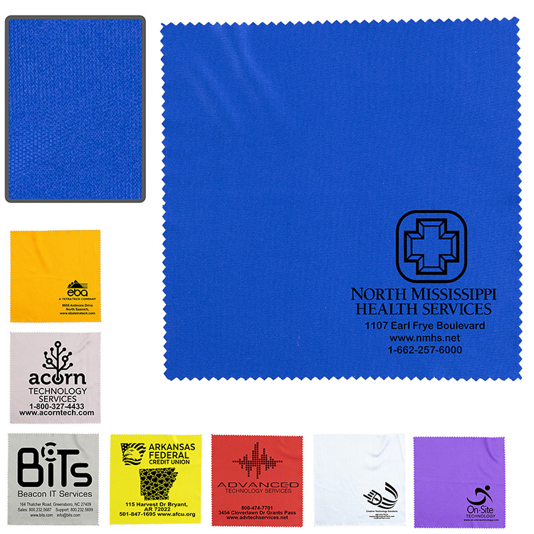 """Microfiber Screen Cleaning Cloth Promotional: 100% Microfiber Cleaning Cloth & Screen Cleaner 6""""x 6"""