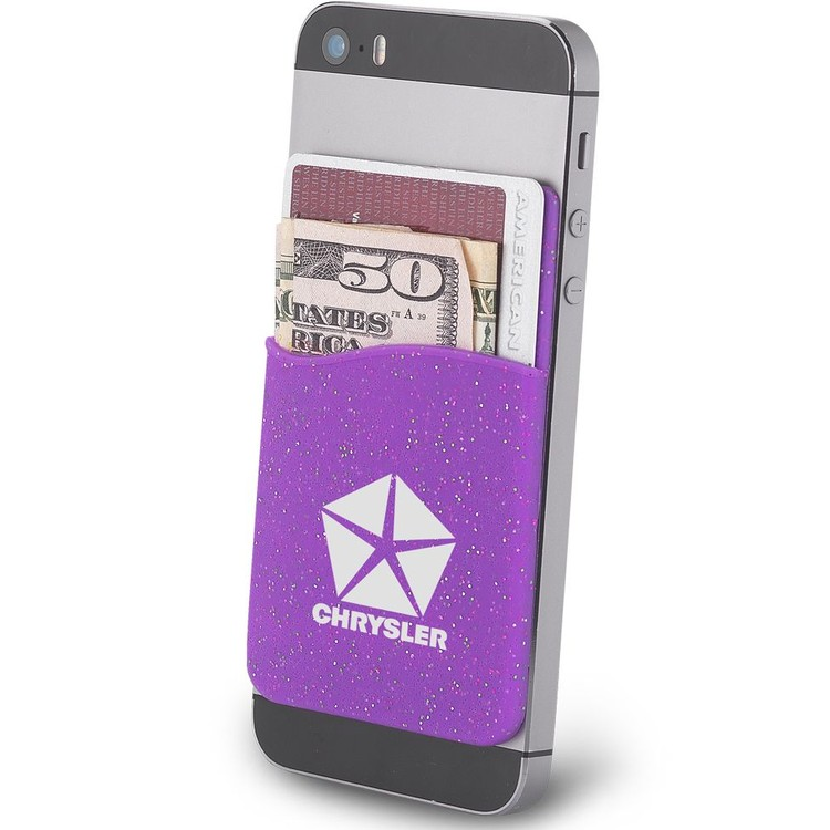Glitter iWallet Silicone Phone Wallet Pocket