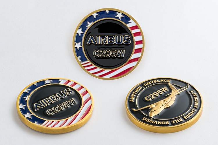 ePromotions1 - Aircraft Manufacturer Challenge Coin 3D Soft Enamel
