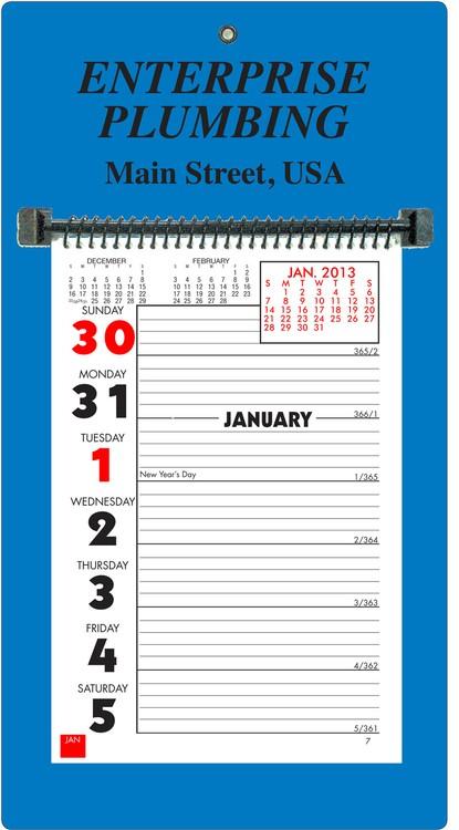 Weekly Memo Almanac Calendar- PMS Backer - AW1-PMS | del enterprises two