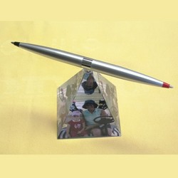 Helicopter Pen with Crystal Base