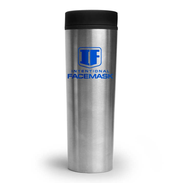 16 oz. Stainless Monterey Travel Tumbler with Black Plastic Lining and Twist-Close Lid