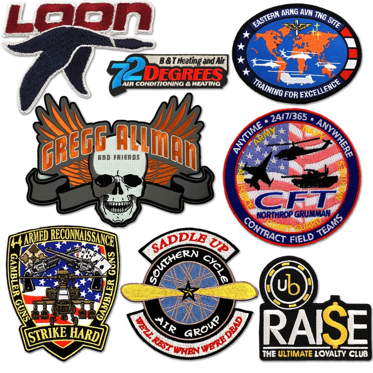 Custom Patch Embroidered Patches 2 50% Thread Coverage