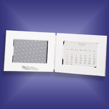 Silver Plated Perpetual Calendar w/Photo Frame
