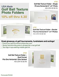Golf Photo Folder Sale | Warwick Publishing | ASI Supplier