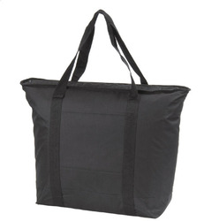 Cooler/tote bag.Zippered cooler with front pocket and handle.