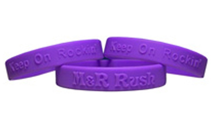 Embossed Silicone Wristbands - Self Promo Special