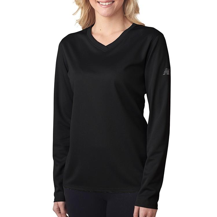 New Balance® Ladies' NDurance® Athletic Long-Sleeve V-Neck T-Shirt - 30