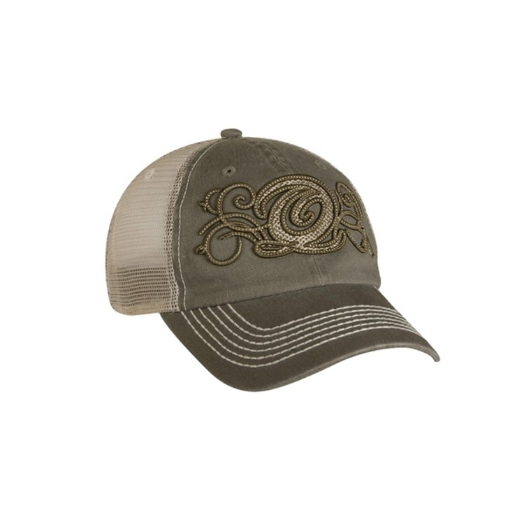 1c5d8f3e66f92 Overseas Unstructured Trucker Cap w  Heavy Visor Stitching  14000 Sports  Knit Poly Pique