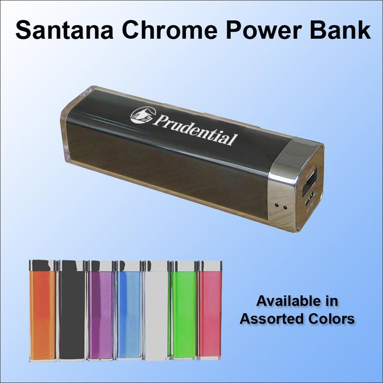 Santana Chrome Power Bank - 1800 mAh