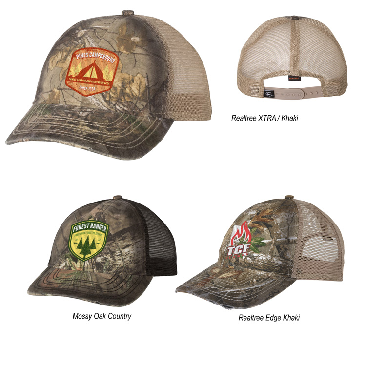 68f36c2368f3a Outdoor Cap Oil Stained Camo Trucker Cap