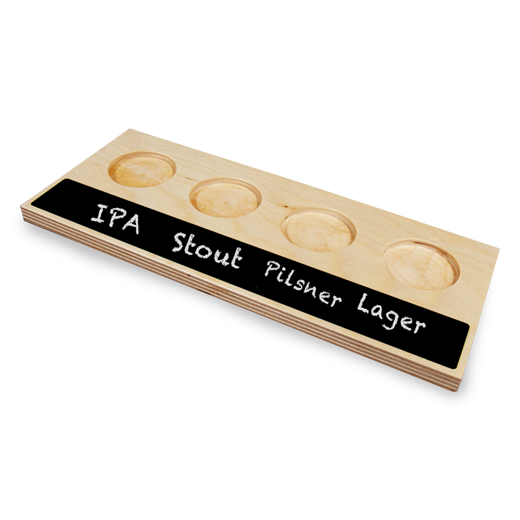 4-Slot Sampler Tray with Chalkboard - Beer Flight