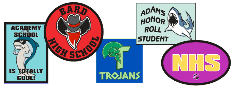 custom school spirit stickers