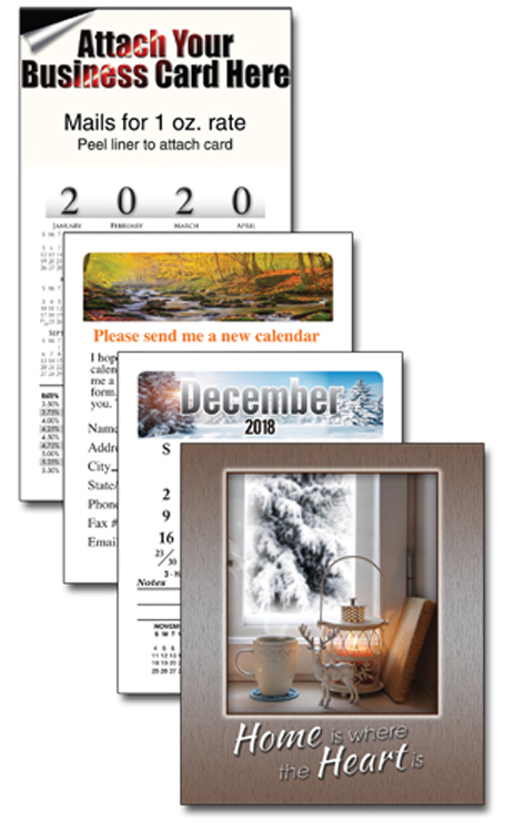 13 Month Business Card Calendar with Cover