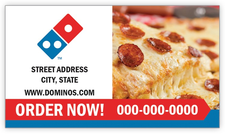 Domino's Pizza Business Card Magnet - Pepperoni