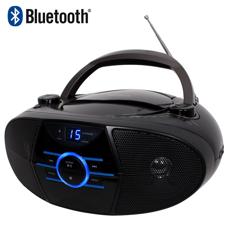 Jensen Portable Stereo CD Player with Stereo Radio and Bluetooth