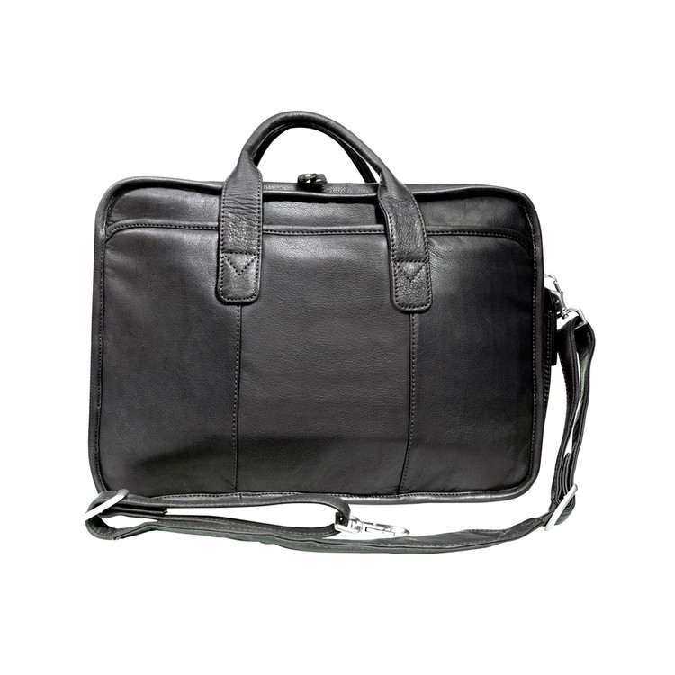 Glacier Canyon Leather Slim-Line Briefcase - Canyon Outback Leather
