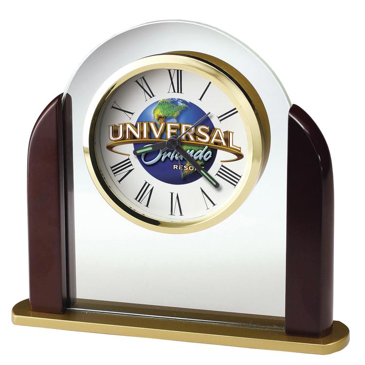 Howard Miller Derrick tabletop clock with Custom Dial