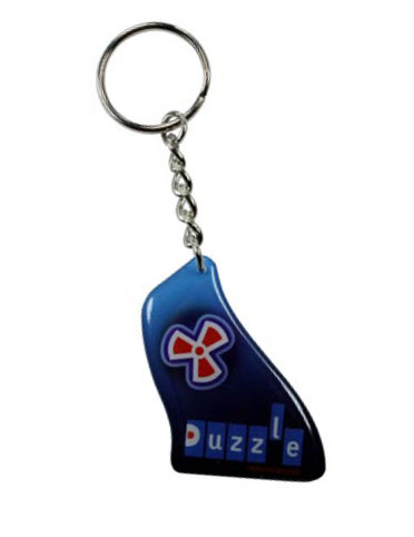 Key Chain / Tag, custom single sided imprint from 2.1 - 3 Sq. In.
