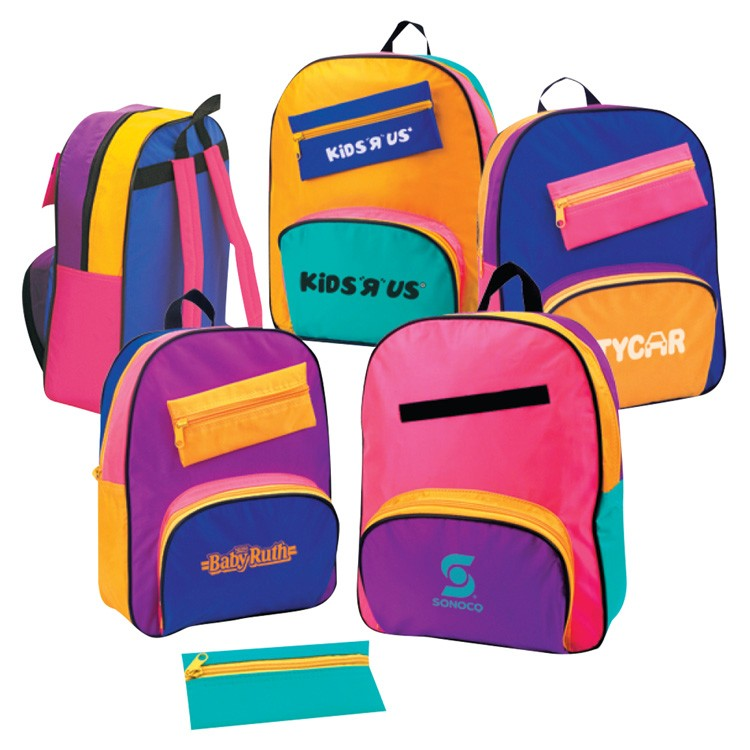 70D Nylon Children's Backpack w/Removable Pencil Pouch