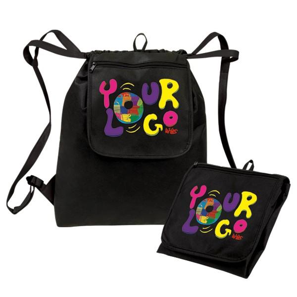 eGREEN Fold-Up Drawstring Cooler Backpack - eGREEN Bags/Cooler