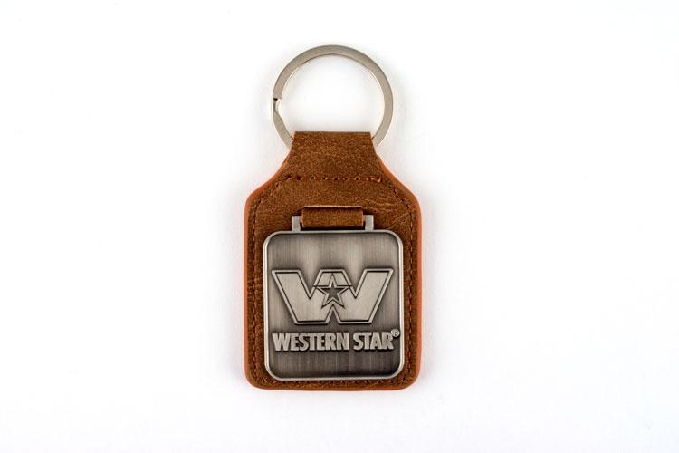 WS Leather Fob keychain