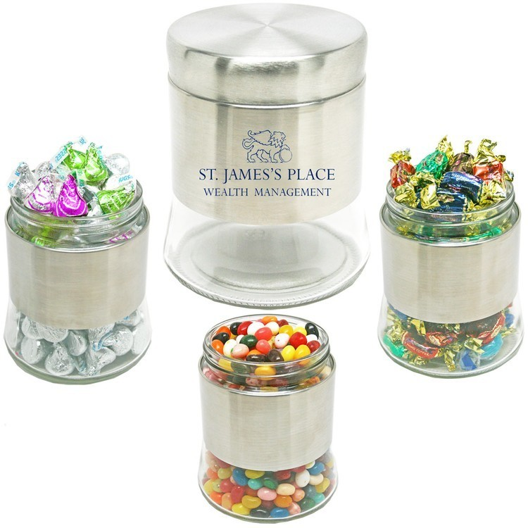 Executive Stainless Steel Jar-Jelly Beans