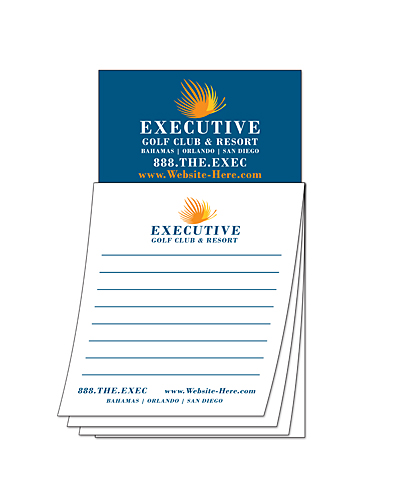Custom Magna-Pad - 3.5x6.25 25-Sheet with Business Card Magnet