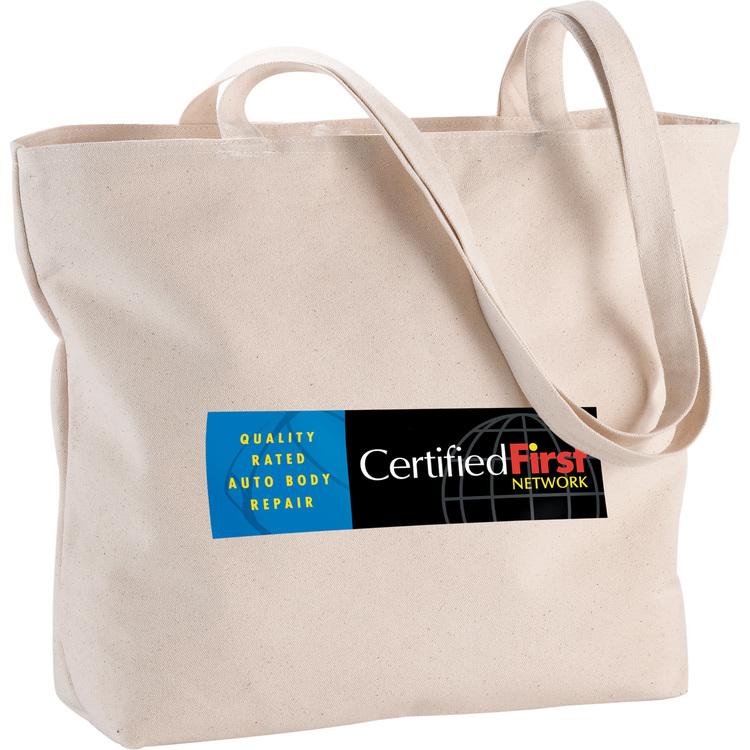 Signature Cotton 12 oz. Zippered Tote