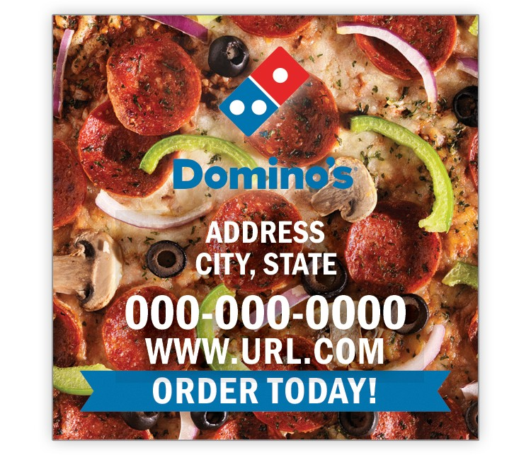 Design Your Own Domino's Pizza 2x2 Magnet